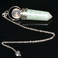 56 MM Amazonite Crystal Beaded  Dowsing Pendulum With Chain Reiki Healing Energy