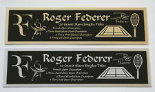 Roger Federer nameplate for signed tennis ball photo racket or case