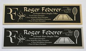 Roger Federer nameplate for signed tennis ball photo racket or case