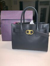 Tory Burch Black Leather Gemini Link Tote