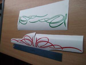 PINSTRIPE DESIGN Car/Bike Vinyl Graphic Sticker Decal x2