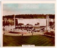 Niagra Falls International Border Canada US 1930s Trade Ad  Card