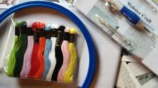 Punch Needle Kit with 3 size needle Embroidery Floss - Hoop - From WEBSTERS