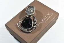 Silpada S0756 Sterling Silver Faceted Black Onyx Pendant RARE VINTAGE HTF