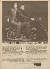 1979 Harley-Davidson Stud Leather Boots Jacket Clothing - Vintage Motorcycle Ad