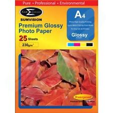Sumvision A4 Premium Inkjet Printer Photo Glossy Paper 230gsm 25 Sheets Pack