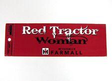 IH Farmall - Red Tractor Woman Bumper Sticker