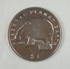 New listing Liberia Commemorative Coin $1 Almost Unc, Preserve Planet Earth, Hippo