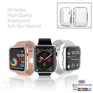 Apple Watch Series 3/4/5/6/SE Full Case iwatch TPU Screen Protector 38/42/40/44