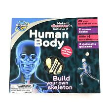Discovery Kids Human Body Build your own Skeleton Model Learning Kit Books Quiz