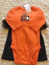 NEW Just One You Girls Halloween Outfit Orange One Piece Black Pants 6 Months