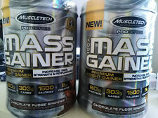 2X  MuscleTech Pro Series Mass Gainer, Chocolate Fudge Brownie, 10.3Lbs Total