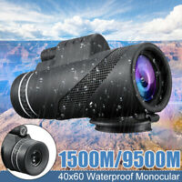 Day&Night Vision 40X60 HD Monocular Telescope Dual-Focus Hunting Hike Outdoor US