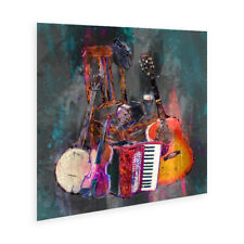 "Irish Musical instruments ""Awaiting The Players #2"" Wall Art Poster"