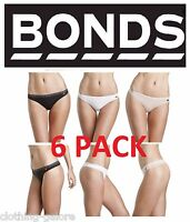 BONDS WOMENS 6 PACK HIP REFINED G STRING GSTRING UNDERWEAR THONG LADIES GEE