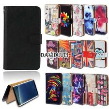 Leather Smart Stand Wallet Case Cover For Samsung Galaxy Note Phones