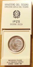 1985 - L. 500 in Ag commemorativo Pres Italiana Comunità Europea