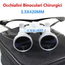 Pro 3.5X 420MM Millimetri Dental Surgical Dentali Occhialini Binoculari Occhiali