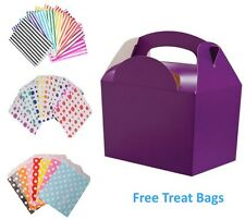 30 x Birthday Party Food Meal Lunch Boxes & FREE Candy Sweet Cake Bags