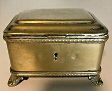 Antique  Vintage Old  Brass  Multi Purpose Trinket Box