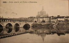 cartolina Pavia Ponte coperto sul Ticino viaggiata 1909  13/11/16