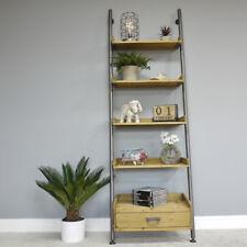 5 Tier Ladder Style Shelving Unit Metal Wood Living Room Tidy Organiser Storage