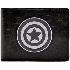 Official Marvel Captain America Symbol Black Id & Card Wallet *SECOND*