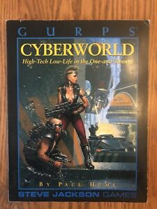 1993 Gurps Cyberworld: High-Tech Low-Life in the One-And-Twenty Book Paul Hume
