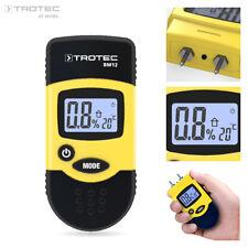 TROTEC Feuchtemessgerät BM12 | Feuchtemesser Feuchtigkeitsmessgerät Holzfeuchte