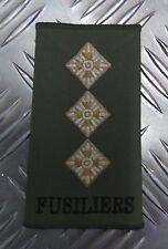 Genuine British Army OD Green Captains Fusiliers Rank Slide / Epaulette