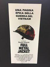 Locandina Full Metal Jacket Kubrick 33x70 ristampa digitale tiratura limitata