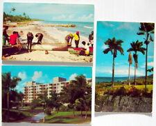 LOT OF 3 VINTAGE UNUSED POST CARDS, JAMAICA, No. JM-20, JM-108, JM-186