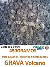 GRAVA natural decorativa 450GR de ACUARIO terrario pecera peces tortuguera 6-8mm