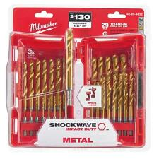 Titanium Metal Shockwave Impact Drill Bit Kit Power Tool Accessory Set 29 Piece