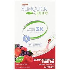 Slimquick Pure Lose 3x The Weight For Woman 26 Packets  Exp. 01/18