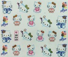 Nail Art Water Decals Hello Kitty Boomerang Balloons Love 925