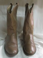 LAREDO Brown Leather Roper Cowboy Western Boots Womens Size 8 M Style 6953 USA