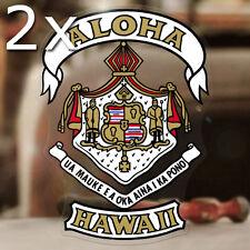 2x Stück Aloha Hawaii Wappen Aufkleber Sticker Cruz Surf Skate Santa Autocollant