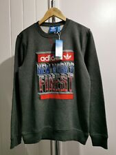 Adidas NYC Finest Crew Neck Sweatshirt with large branding on front Size XS.