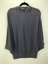 GROCERIES APPAREL Recycled Polyester Organic Cotton Muted Purple Hooded Top Sz 1