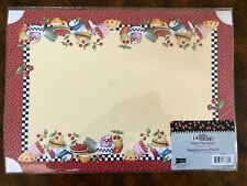 Mary Engelbreit ~ Paper Place Mats (6Ct) Bowls of Cherries Brand New