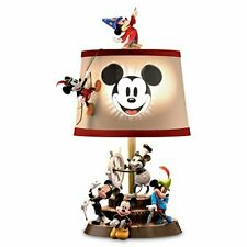 Bradford Exchange Disney Mickey Mouse Through The Years Table Lamp Fabric Shade
