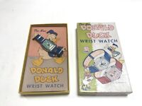 Vintage 1947 Ingersoll Disney Donald Duck Wrist Watch in Original Box Working