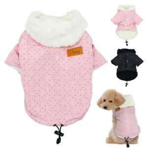 Small Dog Coats for Winter Boy Girl Puppy Pet Clothes Warm Fleece Jacket Hoodie