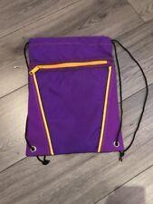 Turnbeutel Lila/Gelb Retro Unisex Sportbeutel Tasche