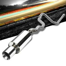 """4"""" Round Roll Muffler Tip Exhaust Catback System For 96-05 Cavalier 2.2L/2.4L"""