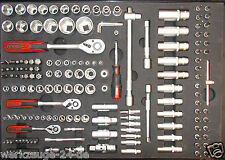 """KS TOOLS 1/4""""-1/2"""" Steckschlüssel-Satz,171-tlg. 1/1 Systemeinlage Werkstattwagen"""