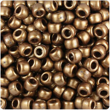 500 Medium Bronze Gold Pearl 9x6mm Barrel Pony Beads Made in the USA