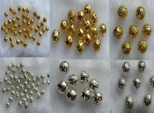 Silver  & Gold Plated Round Hollow Filigree Spacer Beads 4mm, 6mm, 8mm & 10mm