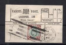 EDWARD VII 4d USED ON PARCEL POST LABEL